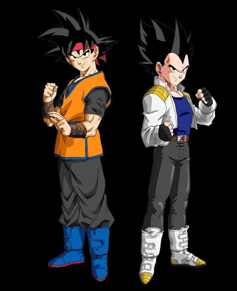 Goku Jr Y Vegeta Jr Dragon Ball Character Anime