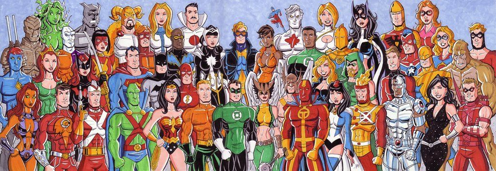 Giant Justice League Commission By Calslayton D681b9z Jpg 1024 353
