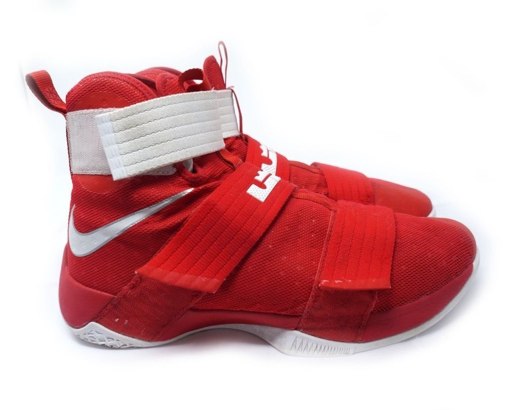 d3e6974cf788 Nike Lebron James Soldier 10 TB University Red Basketball Shoe 844380 Men  11