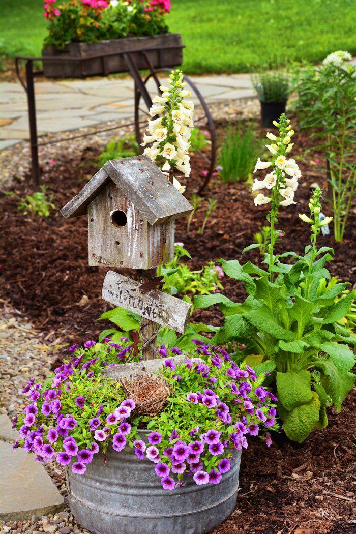 Vintage Garden Decor, Rustic Garden Decor, Rustic Gardens