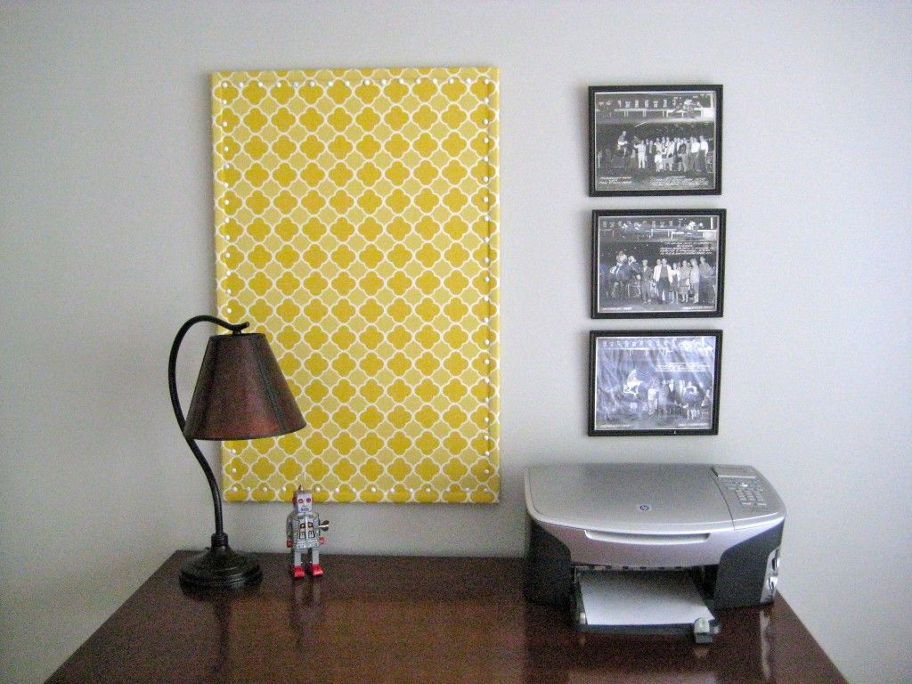 Fabric covered bulletin board | I wish. | Pinterest | Fabric covered ...