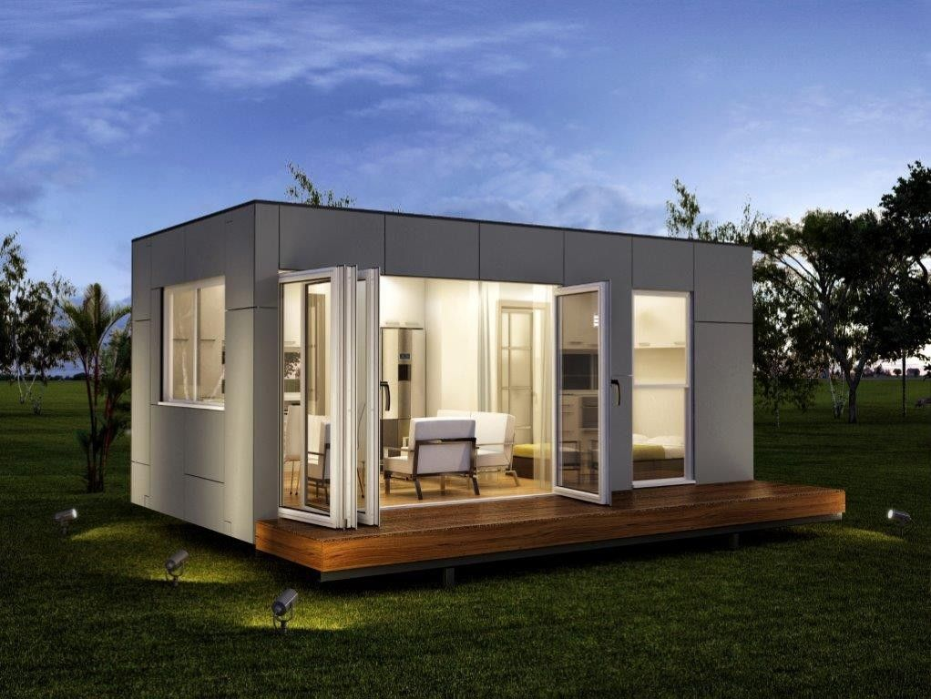 container fertighaus granny flat spacious studio with one bed modular home osterreich