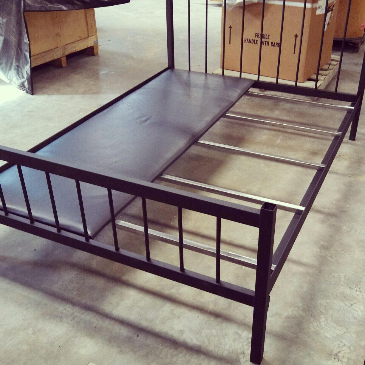 Full size Bed Frame. Welded Steel. Doesn\'t need box springs ...