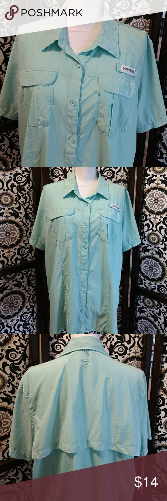 Magellan fishing shirt Size XXL Light mint color (sorta ...