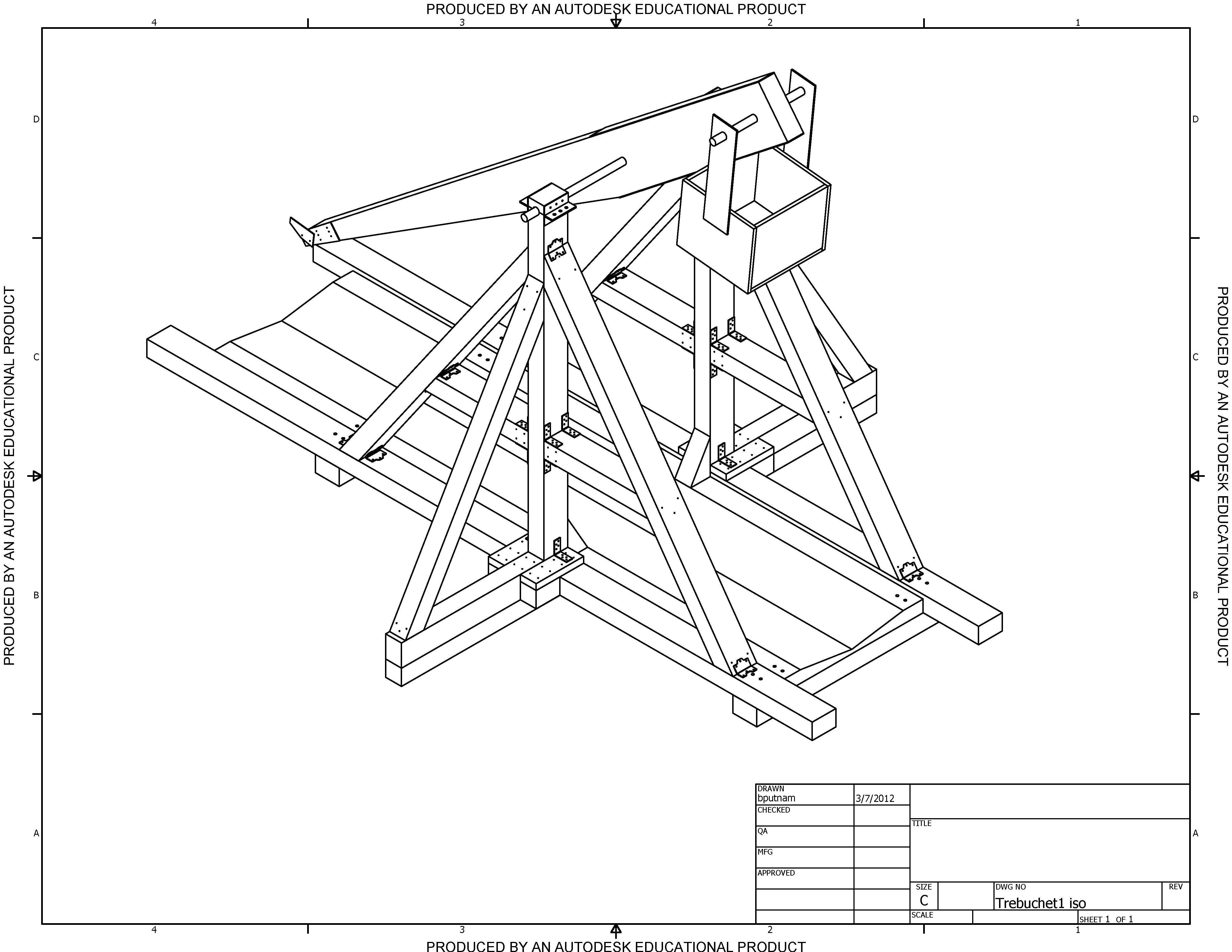 design and analysis trebuchet cnc plans wooden model kits diy kits