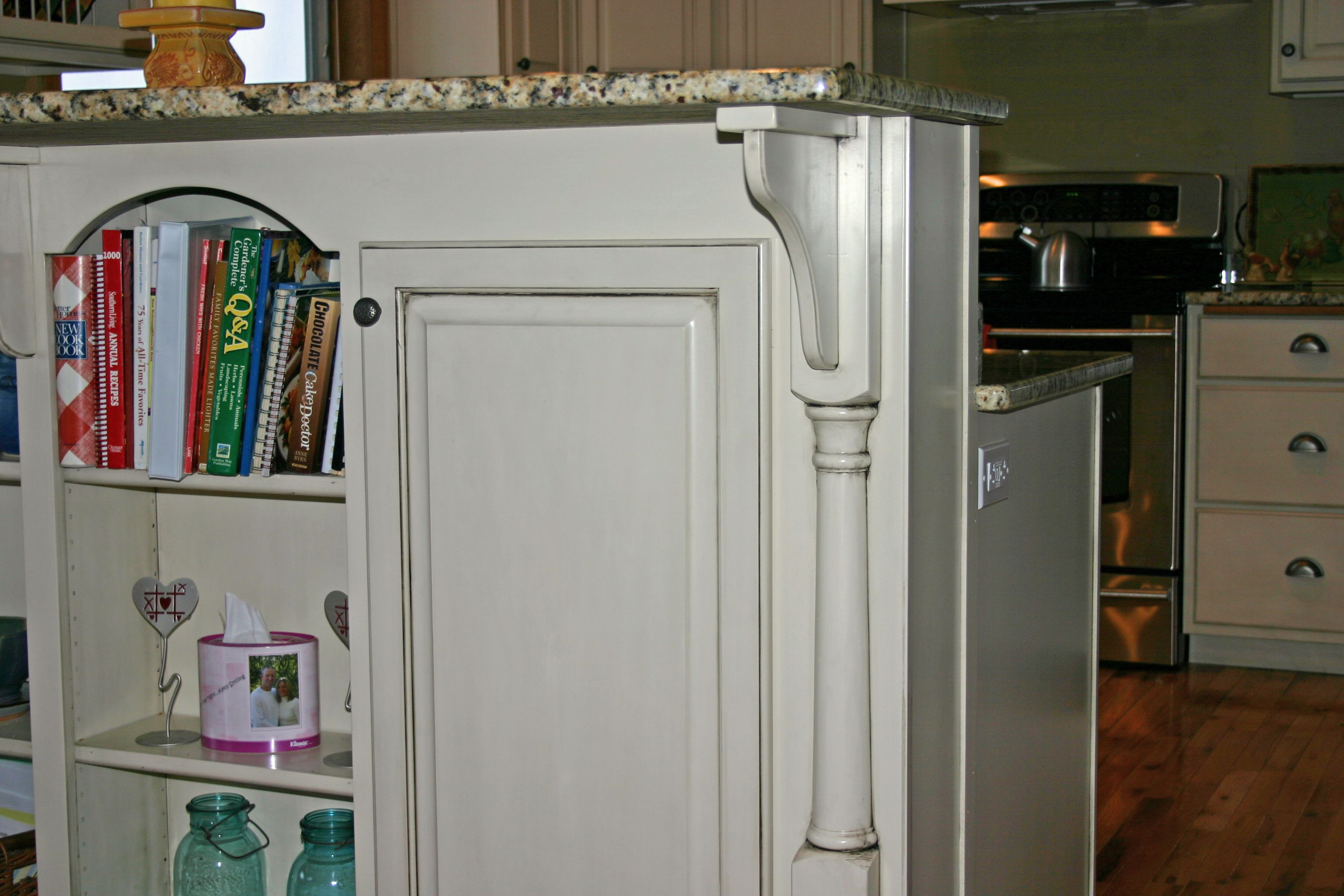 Storage On Both Sides Plus An Electrical Outlet For Small Kitchen Appliances Tall Cabinet Storage Custom Cabinets Cabinet