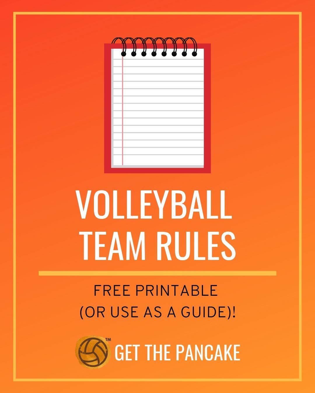 Team Rules A Free Printable For Your School Or Club Team Coaching Volleyball Volleyball Rules Volleyball Drills For Beginners