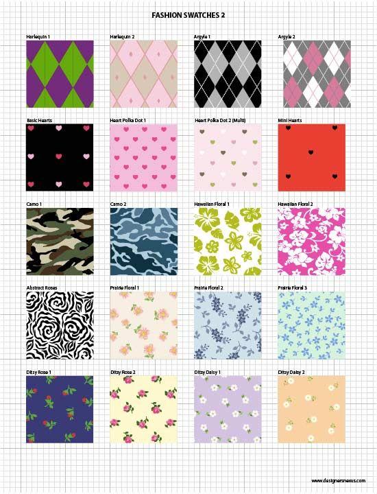 Vector Fabric Swatches Fashion Embellishments Fashion