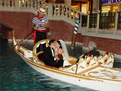 Venetian Weddings Can Be Performed On The White And Gold Italian Gondola