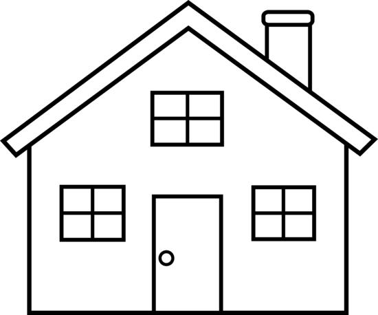 house outline clipart black and white clipart panda free rh pinterest com clipart picture of a house clipart of a house black and white