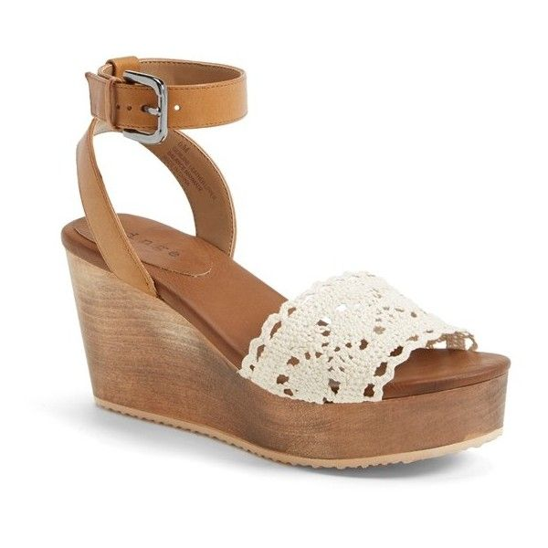 e8ac2ebbb3f Hinge  Aimee  Wooden Platform Wedge Sandal
