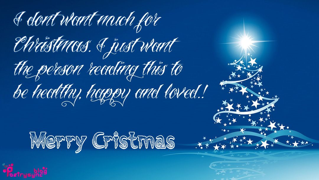 Merry Cristmas Wishes and SMS Messages in English