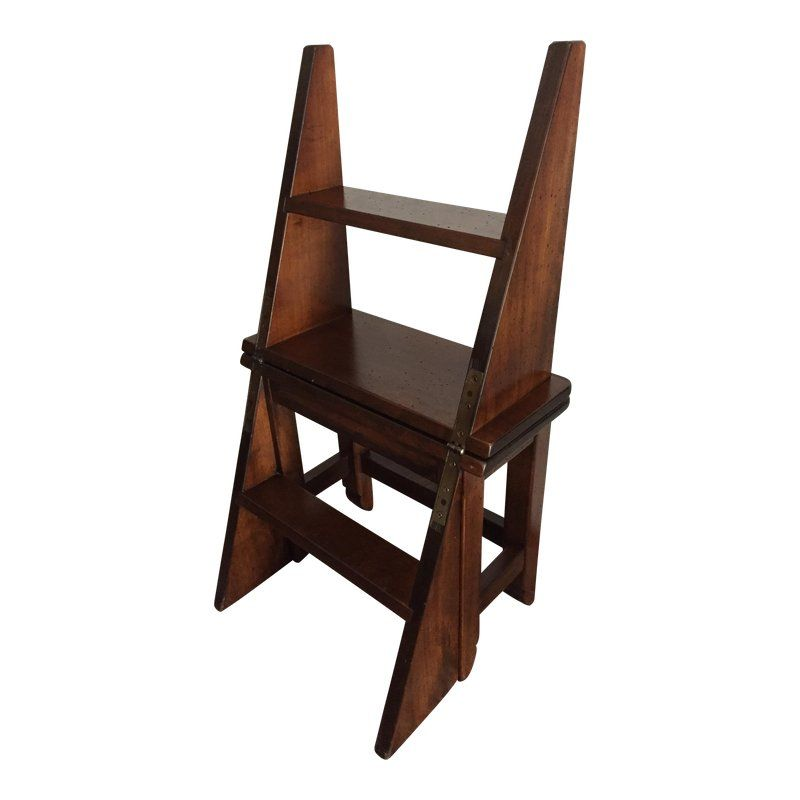 Cool 1970S Vintage Library Folding Ladder Step Stool Products Pdpeps Interior Chair Design Pdpepsorg
