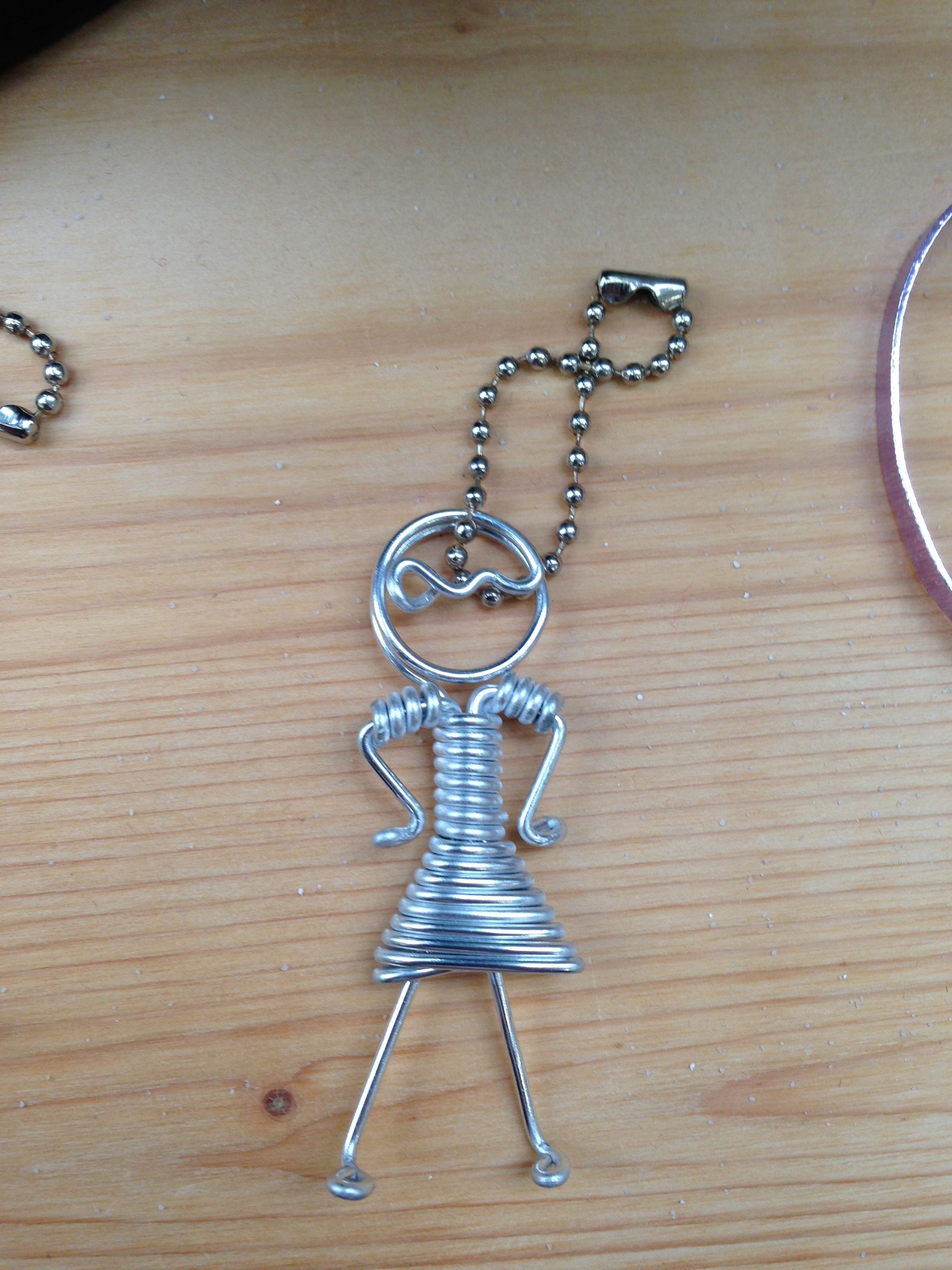 Aluminium Wire Girl Keyring Wire Jewelry Wire Crafts