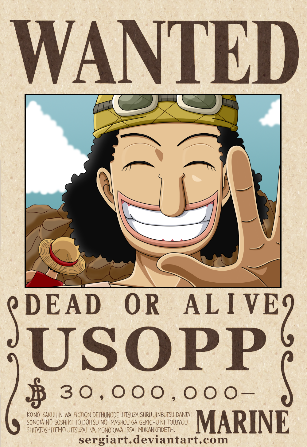 One piece usopp wanted poster by - One piece wanted poster ...