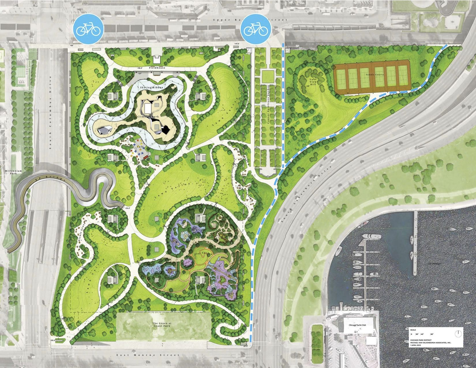 General Information Maggie Daley Park Parking Design Urban Landscape Design Landscape Design Plans