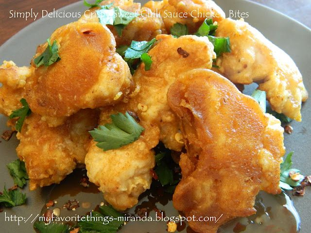 Simply Delicious Crispy Sweet Chili Sauce Chicken Bites