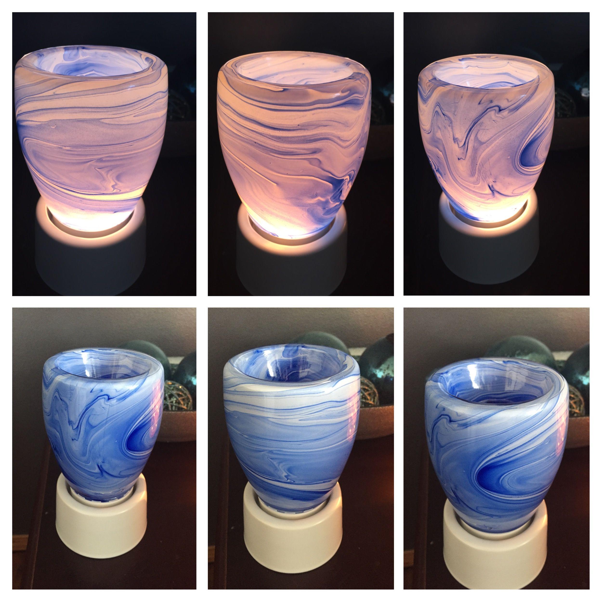 Scentsy Blue Watercolor Mini Night Light Plug-in Warmer