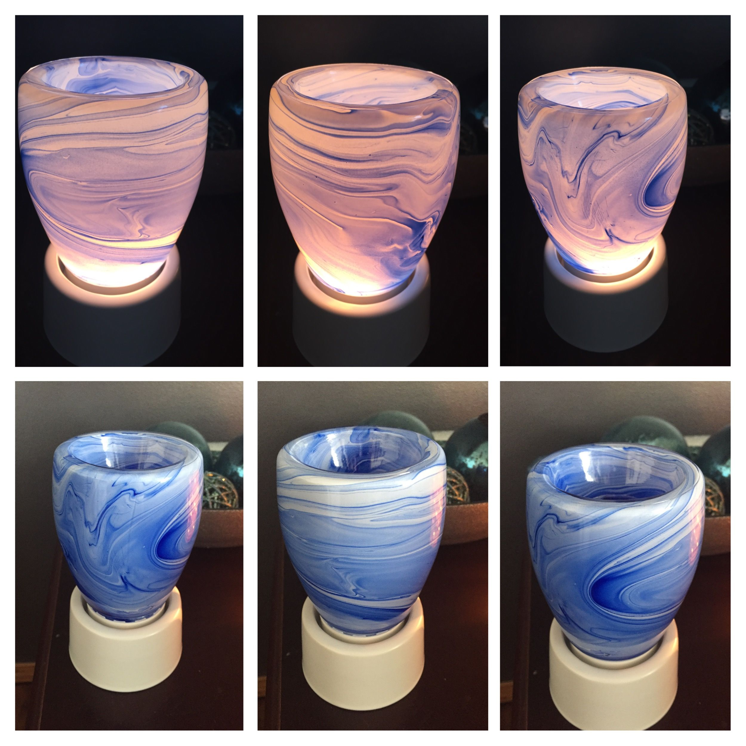 Blue Watercolour Scentsy Nightlight On Nightlight Base Sopretty