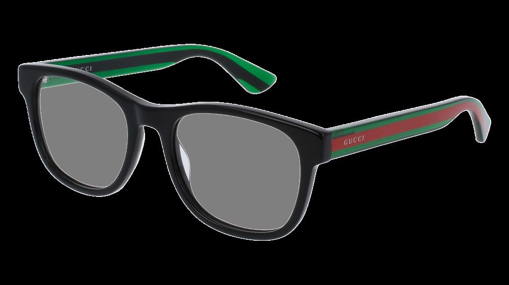 0f6a2ebbb9a Gucci - GG0004O-002 Black Green Eyeglasses   Demo Lenses in 2019 ...