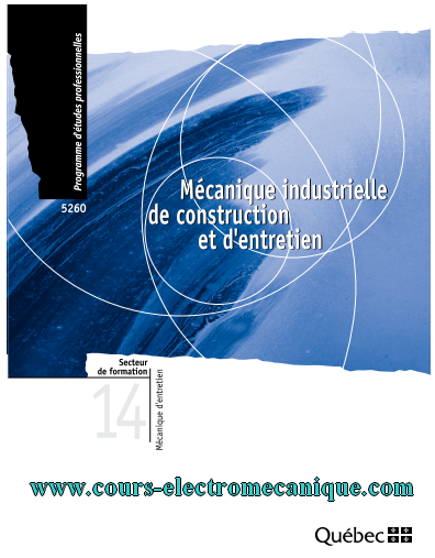 Mecanique Industrielle De Construction Et D Entretien Pdf Cours D Electromecanique Technology Engineering Genies