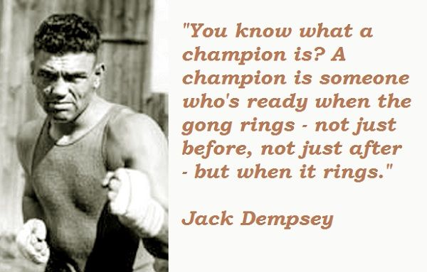 Jack Dempsey Quotes Picture Quotes Quotes Jack