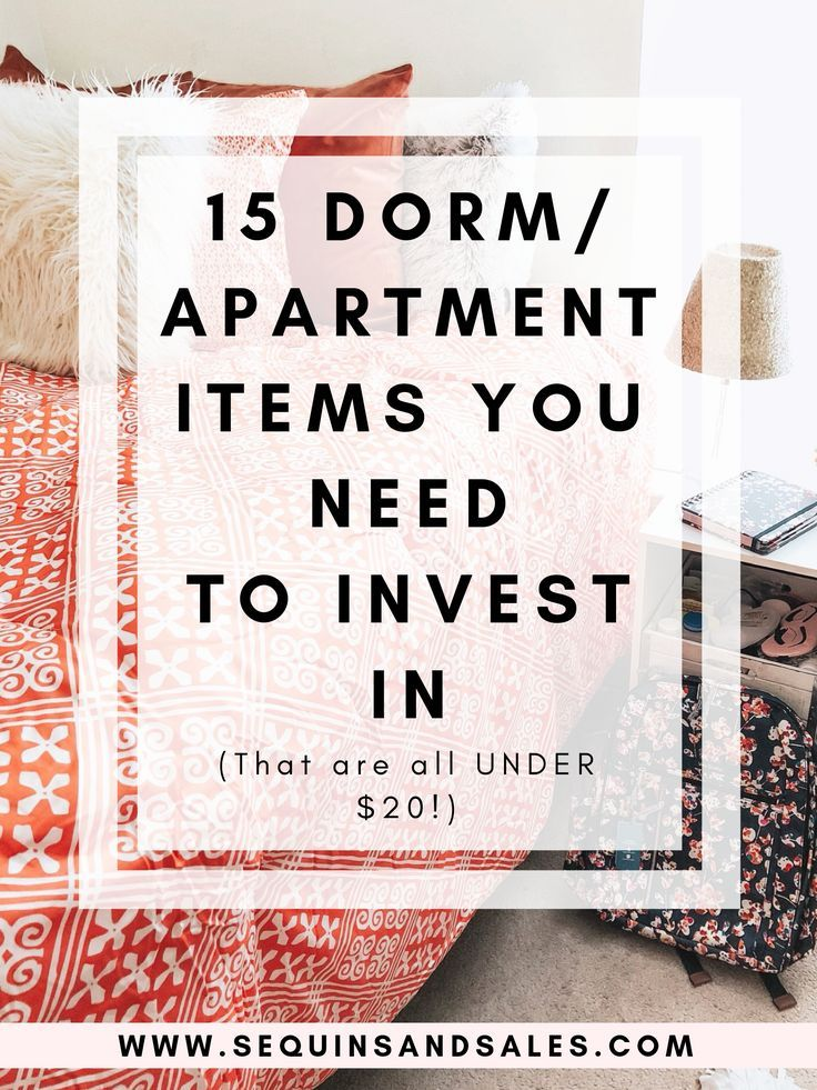 15 Dorm/Apartment Items You Need to Invest In (Under $20 ...