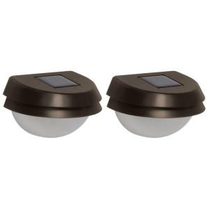 Malibu Led Solar Metal Fence Light 2 Pack 8506 2402 02 At The Home Depot Mobile