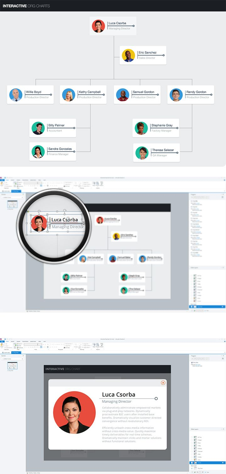 Free interactive org chart template for articulate storyline features customizable graphics so you can customize your own  learning projects also rh pinterest