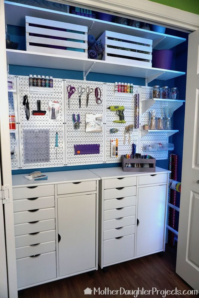 How to Organize The Ultimate Craft Closet Makeover DIY