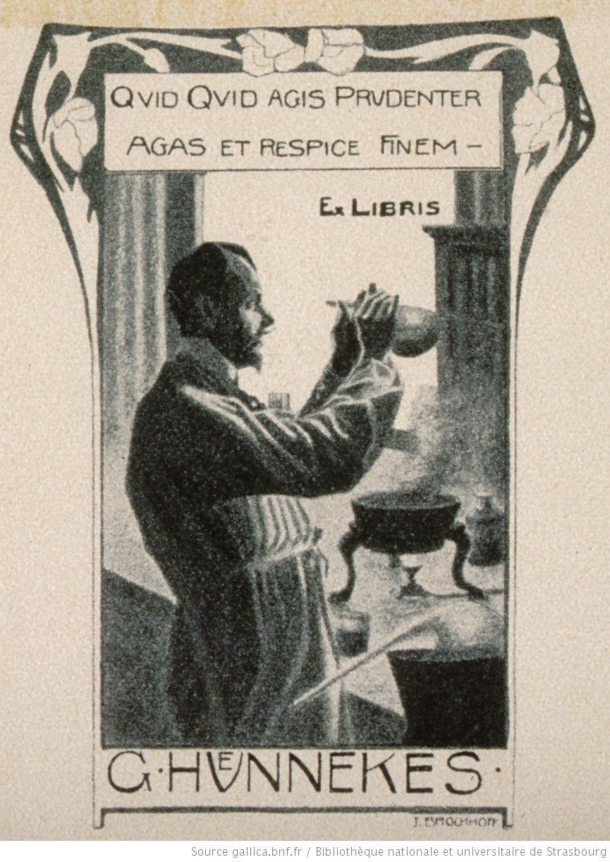 Quid Quid Agis Prudenter Agas et Respice Finem. Ex-Libris