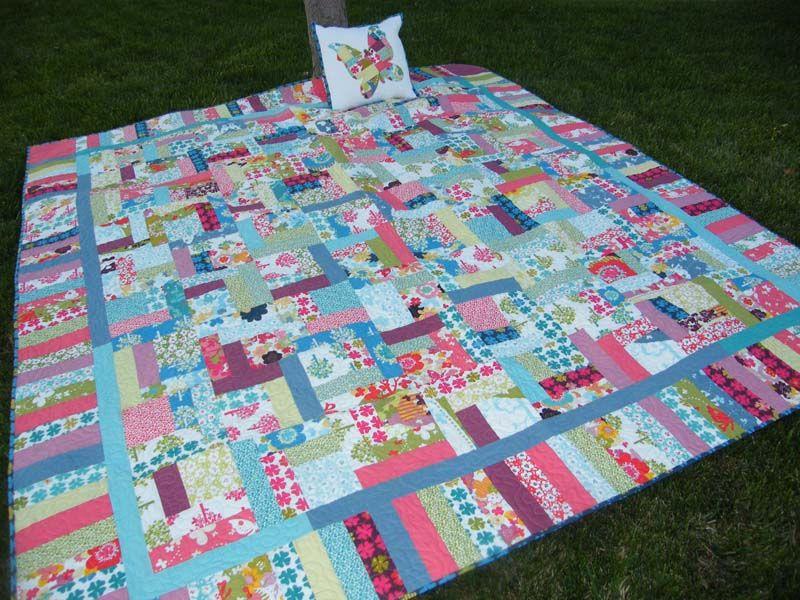 Squaredy cat quilt