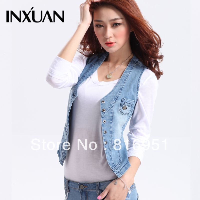 Jean Jacket Vest Womens | Outdoor Jacket