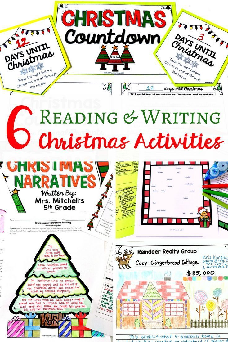 6 Reading and Writing Christmas Activities for your Middle