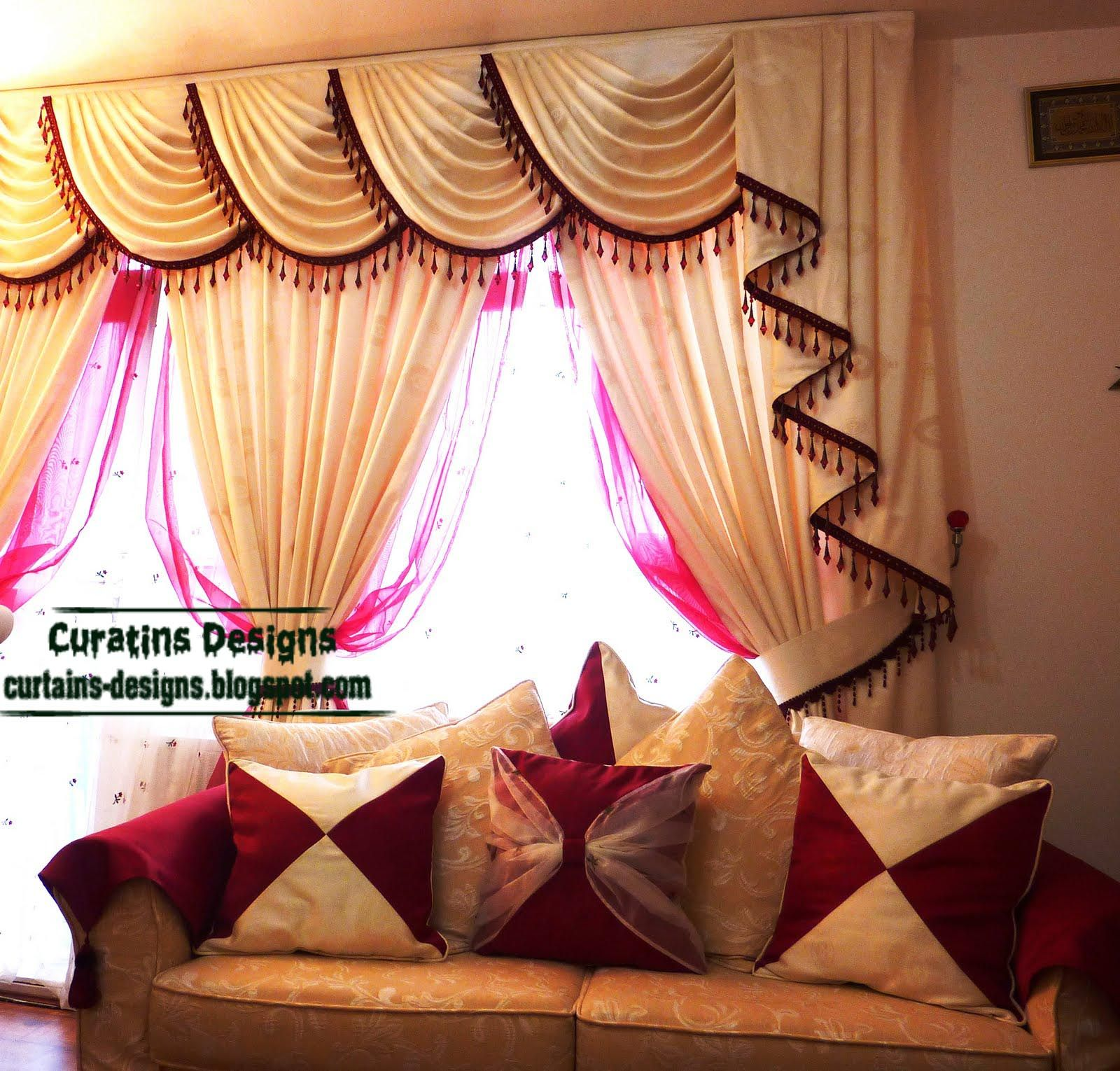 Living+Room+Curtains | Indian Drapes Curtain Design For Living Room Beige