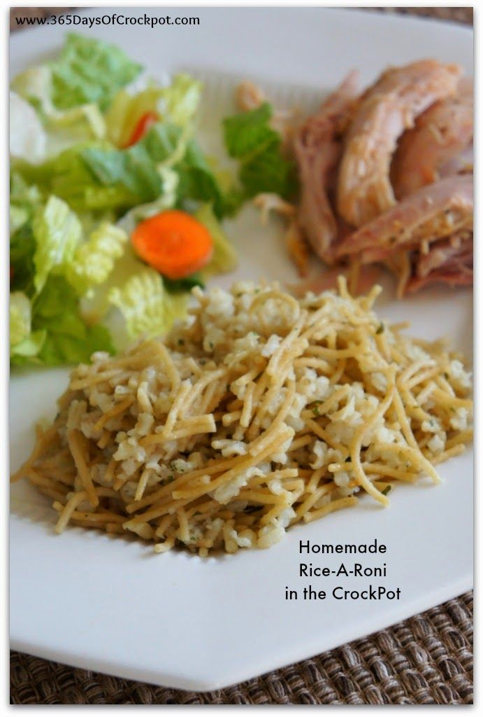 Homemade Slow Cooker Whole Grain Rice-A-Roni