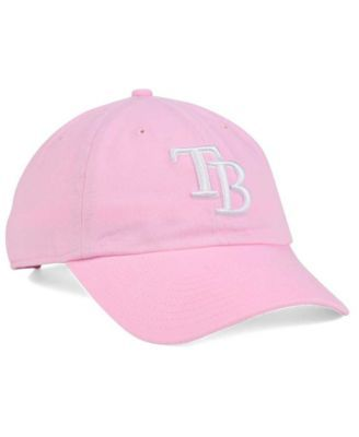 47 Brand Women s Tampa Bay Rays Pink White Clean Up Cap - Pink Adjustable.    8818c2e6d2
