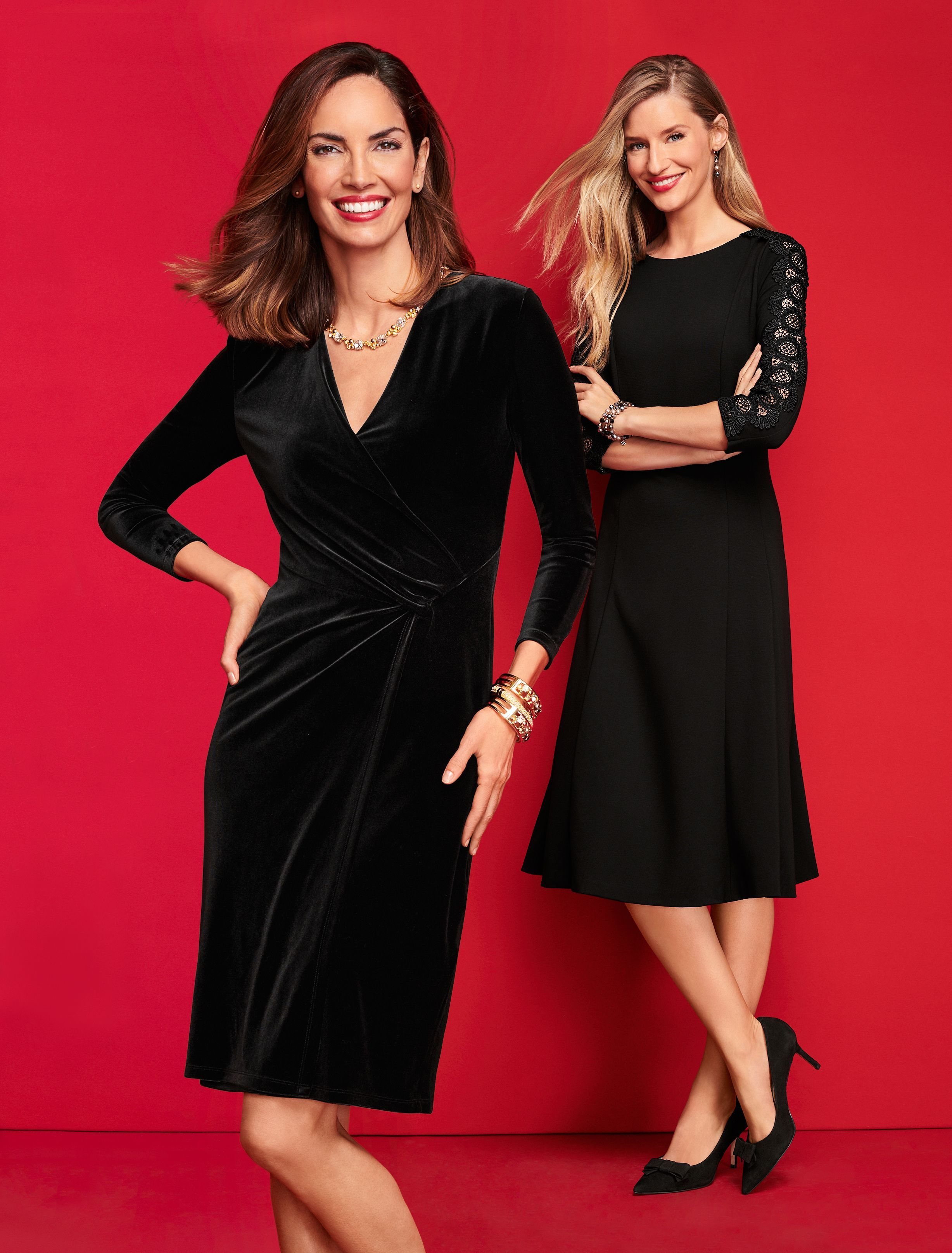 Little Black Dresses Sophisticated And Stylish And A Beautiful Reason To Get Dressed Up Talbots Winter 2018 Dresses Talbots Outfits Fit Flare Dress [ 3230 x 2455 Pixel ]