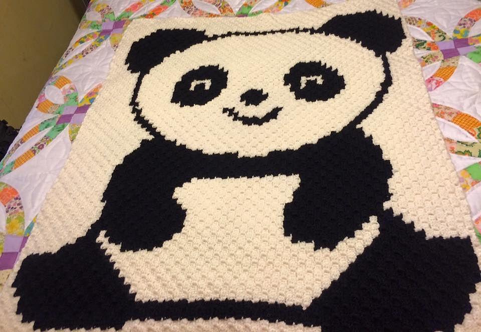 C2C Panda pattern by Tana Whitney