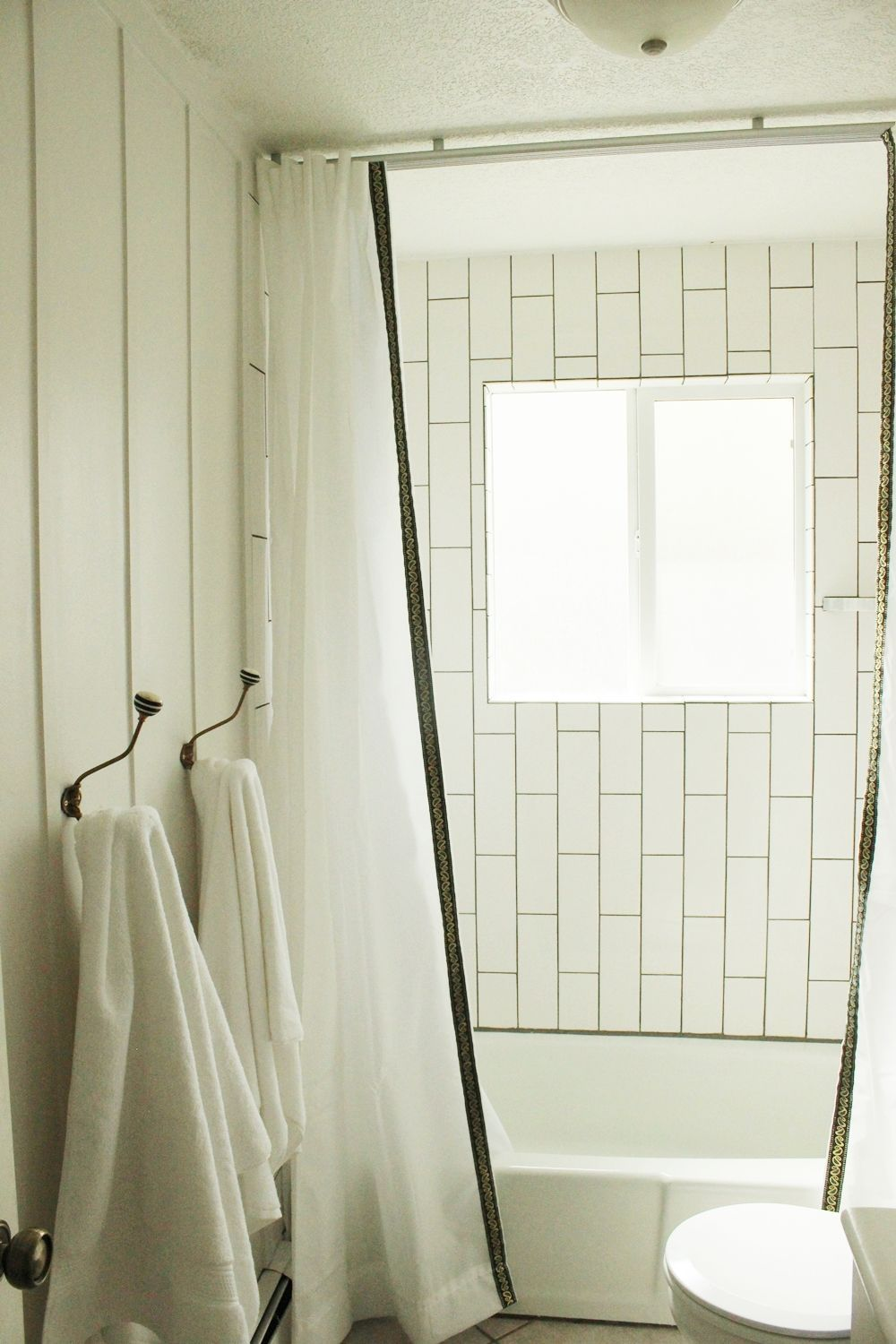How To Install A Ceiling Mounted Shower Curtain Shower Curtain