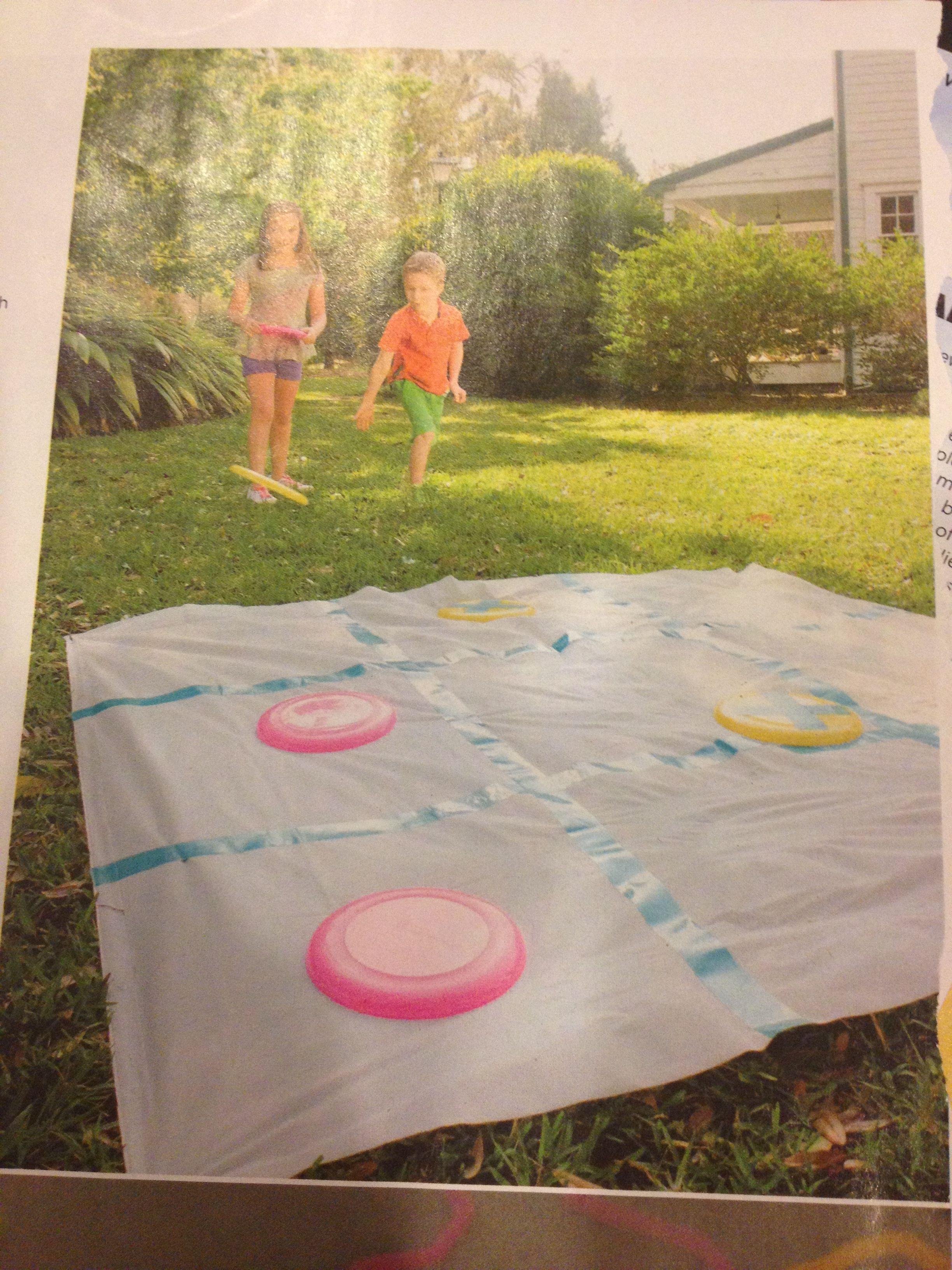 tic-tac-toss with frisbees | kids- indoor