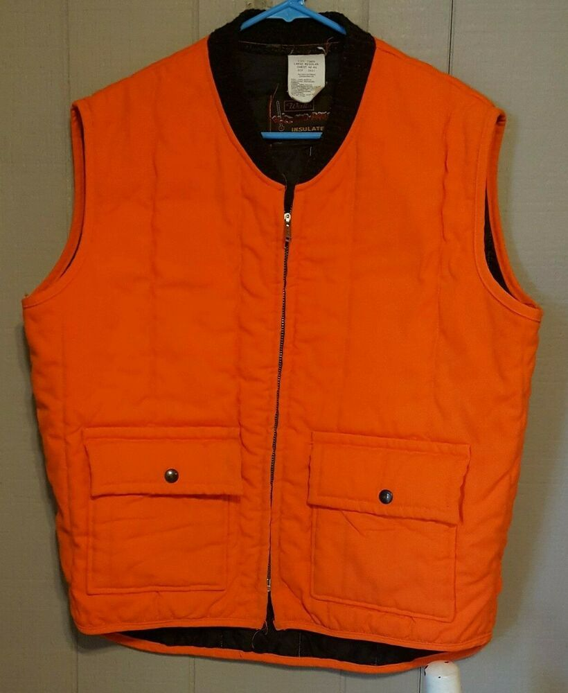 Vintage Walls Blizzard Pruf Insulated Blaze Orange Hunting Vest