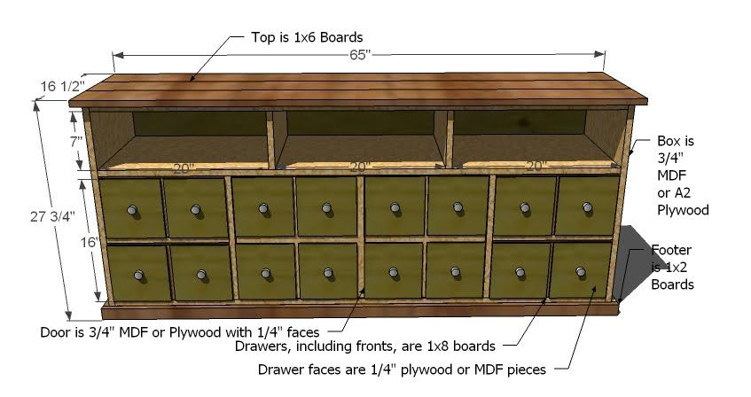 Ana White | Build A Apothecary Console | Free And Easy DIY Project And  Furniture Plans