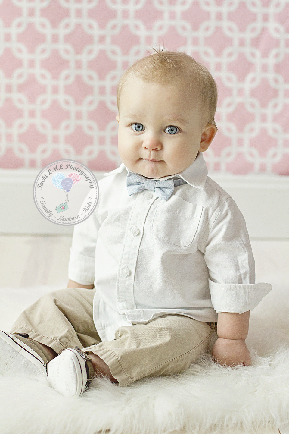 Valentines day mini session 8 months old baby