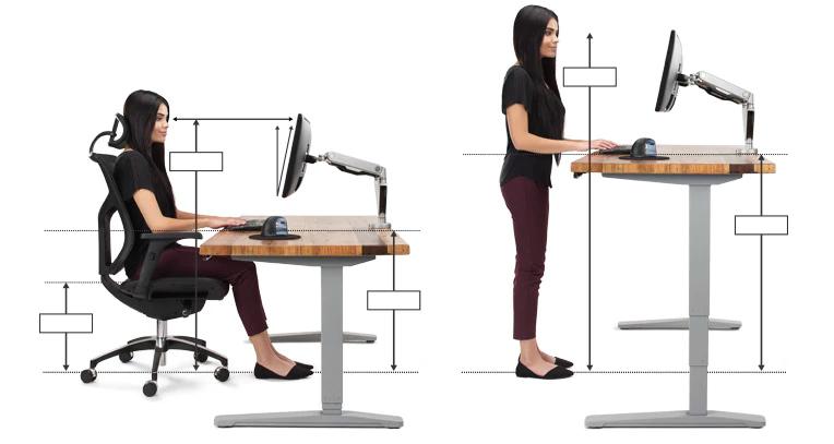 Ergonomic Office Desk Chair And Keyboard Height Calculator Ergonomic Desk Height Ergonomic Desk Ergonomic Office Furniture