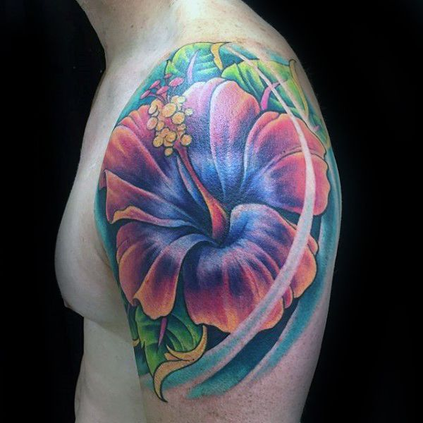 80 Hibiscus Tattoo Designs For Men Flower Ink Ideas Hibiscus
