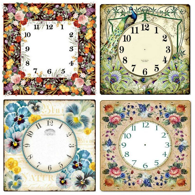 294907b4d1 5d diy diamond painting wall clock flowers landscape full square / round 3D  mosaic embroidery home decoration crafts gifts