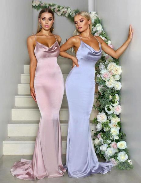 Spaghetti  Straps Mermaid Elegant Sexy Simple  Cheap Bridesmaid Dresses, Modest Prom Dresses,PD1046 7