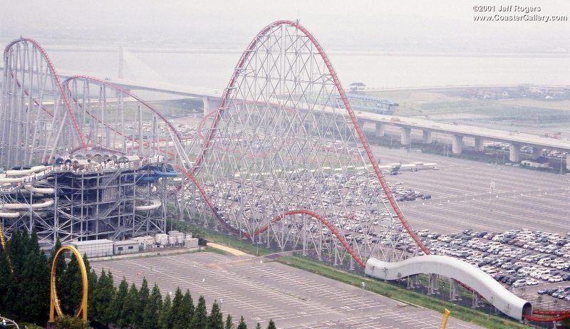 Roller Coaster Steel Dragon 2000 Amusement Park Nagashima Spa Land Nagashima Kuwana Mie Japan Taken 2001 Photo By Jeff Rogers Coastergallery Com