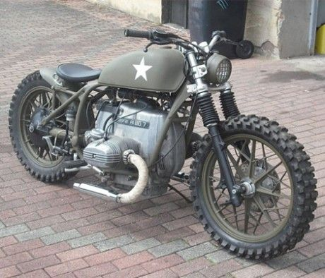 Bmw Custom With Army Theme Motorcycle Motorbike Bmw